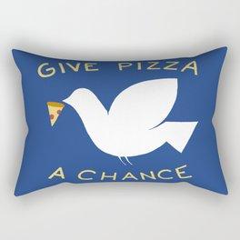 War & Pizza Rectangular Pillow