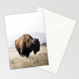 Bison stance Stationery Cards