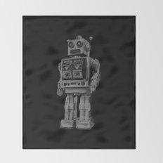 Vintage robot Throw Blanket