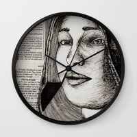 bianca Wall Clocks featuring Bianca Davri by Anca Chelaru