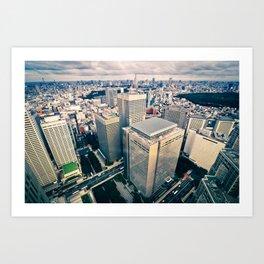 Tokyo Skyline Art Print