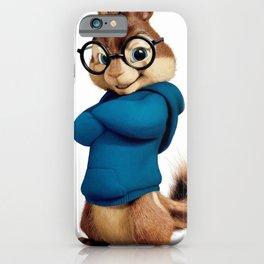 Simon the smartest chipmunk iPhone Case