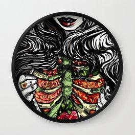 Floral Ribs Wall Clock