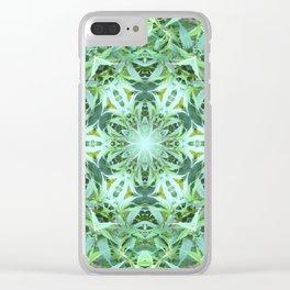 Mary Jane Mandala 2 (green) Clear iPhone Case