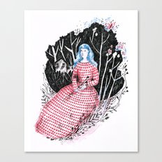 Lady at home Canvas Print