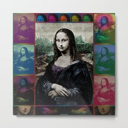 Gioconda Variations Metal Print