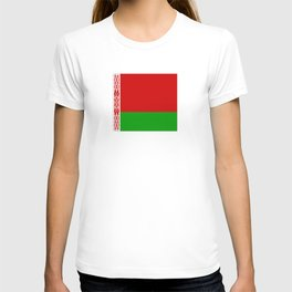 flag of belarus-belarusian,Minsk,Homyel,russia,snow,cold,chess,bear,rus,wheat,europe,easthern europe T-shirt