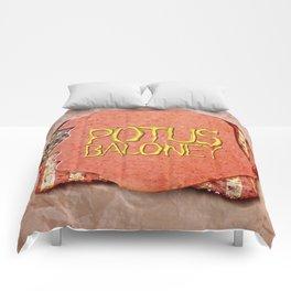 POTUS BALONEY Comforters