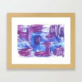 Royal purple abstract watercolor Framed Art Print