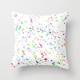 Joy splatters || watercolor Throw Pillow