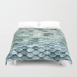 Pastel Mermaid Tail Blue Green Duvet Cover