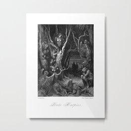 Brute Harpies, Victorian Reproduction,  Metal Print