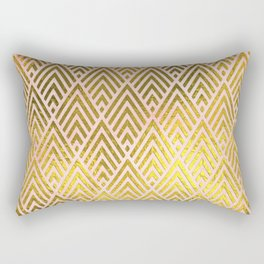 Gold foil triangles on pink - Elegant and luxury triangle pattern Rectangular Pillow