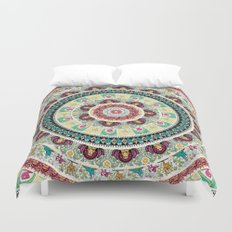 Sloth Yoga Medallion Duvet Cover