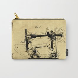 Sewing Machines Support Patent Drawing From 1885 Carry-All Pouch