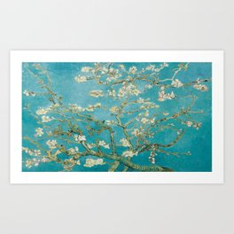 Vincent Van Gogh's Branches of an Almond Tree in Blossom Art Print
