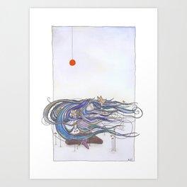 The sea game Art Print