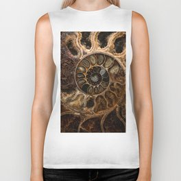 Earth treasures - Fossil in brown tones Biker Tank
