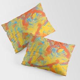 Coarse Brushstrokes Pillow Sham