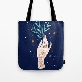 Cosmic Plant Tote Bag