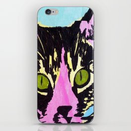 Pop Art Cat No. 1 iPhone Skin
