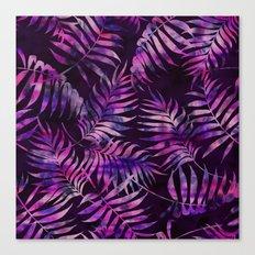 Reeya Tropical {purple} Canvas Print