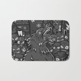 WOLVES OF PERIGORD Bath Mat