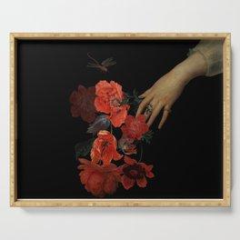 Jan Davidsz. de Heem Hand Holding Bouquet Of Flowers  Serving Tray