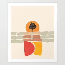 Modern shapes 4 Art Print
