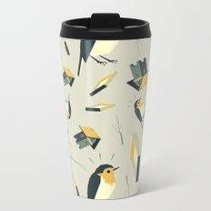 Flying Birdhouse (Pattern) Metal Travel Mug