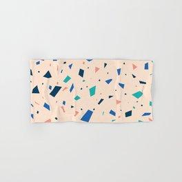Pastel Terrazzo - Peach Granite Marble Speckle Pattern Hand & Bath Towel
