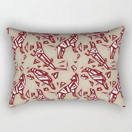 Spirit Animals Desert - Coyote - Raven - Lizard Rectangular Pillow