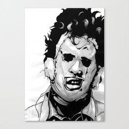 Leatherface Portrait - Texas Chainsaw Massacre Canvas Print