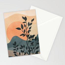 Orange Rising Sun Stationery Cards