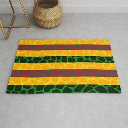 African Giraffe Multicolor Animal Print Rug