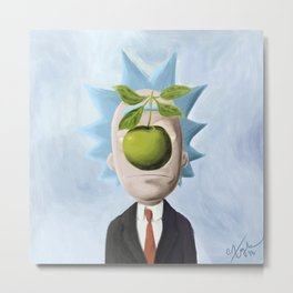 Rick and Magritte Metal Print
