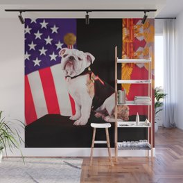 Bulldog Navy Official Mascot Dog Wall Mural