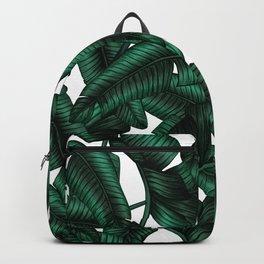 Banana leaves pattern. Backpack