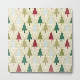 Stylized Christmas tree pattern Metal Print
