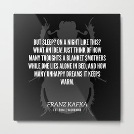 80  |  Franz Kafka Quotes | 190517 Metal Print