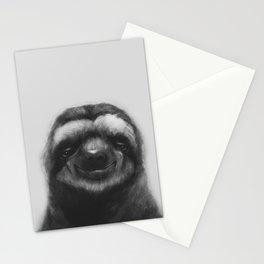 Sloth #1 (B&W) Stationery Cards