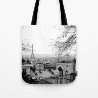paris Tote Bags featuring Paris by Studio Laura Campanella
