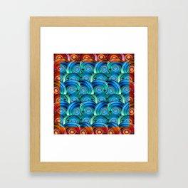 Circle design with Heart Framed Art Print