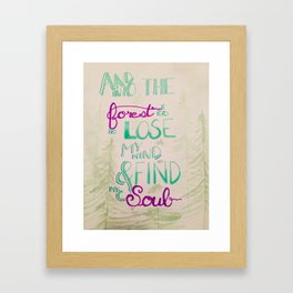 Into the Forest Vivid Framed Art Print