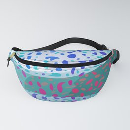Colored Snow Abstract Digital Painting  Fanny Pack
