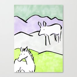 Ink animals Canvas Print
