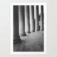 Dark Columns Art Print