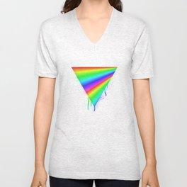 Dripping Rainbow Unisex V-Neck