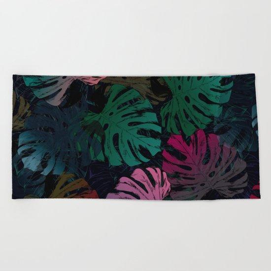 Dark tropics Beach Towel