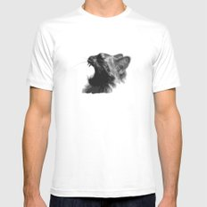 Kitty War Cry Mens Fitted Tee White MEDIUM